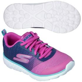 スケッチャーズ (SKECHERS) ジュニア GO RUN 400-SHIMMER ZOOMS(NVY×PNK) 81353L-NVPK [分類:キッズ・子供靴 スニーカー]