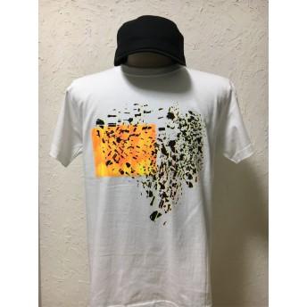 フロート・オレンジ・ホワイト・Tシャツ【2TN-017OR-WT】