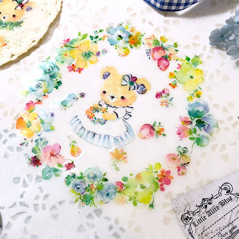 Little Alice Blue flowers stickers - 春天花園