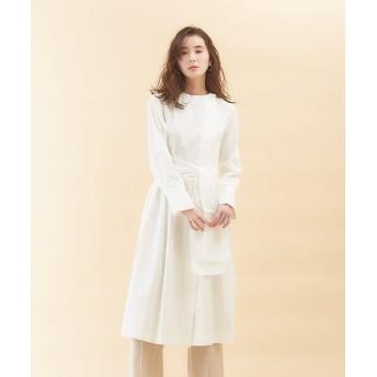 qualite/カリテ スカーフシャツワンピース オフホワイト 38