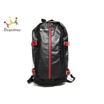 コロンビア columbia リュックサック 黒×レッド PVC(塩化ビニール)×ナイロン 新着 20200126