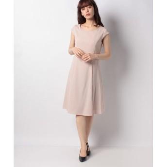 MISS J/ミス ジェイ ドビークロス フレンチスリーブ ドレス ピンク 40