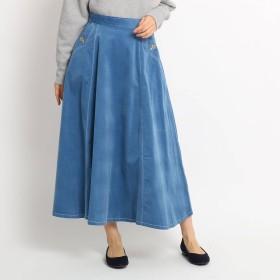 Dessin(Ladies)(デッサン:レディース)/【Sサイズあり 洗える】超長綿コーデュロイフレアスカート