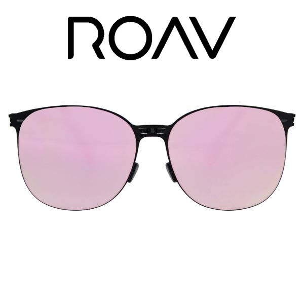 ROAV 折疊太陽眼鏡 Kendall NY004 (黑) 粉水銀 OVERSIZE系列【原作眼鏡】