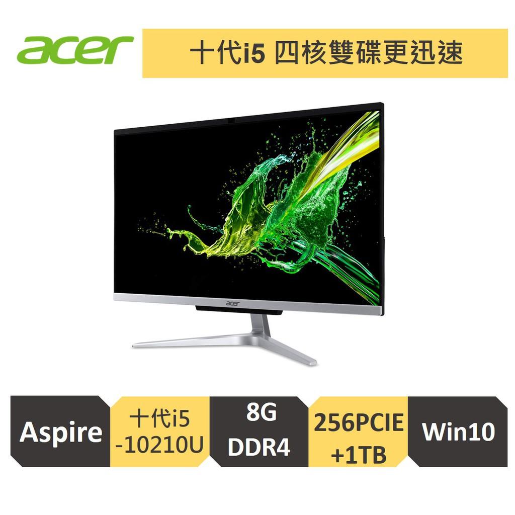 Acer 宏碁 C24 960/ i5 10210U/8G/1T+256G雙碟/24型AIO電腦