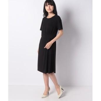 LAPINE BLANCHE/ラピーヌ ブランシュ ジョイクールスムース ドレス ブラック 38