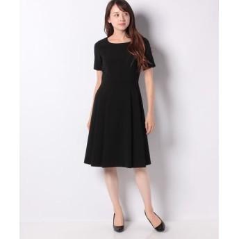 MISS J/ミス ジェイ シルキーストレッチ ドレス ブラック 38