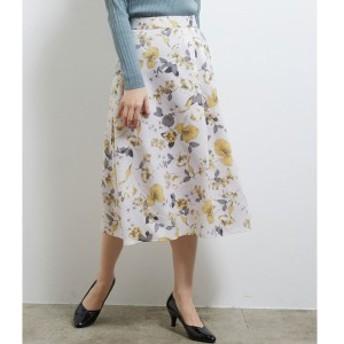 ロペピクニック(ROPE' PICNIC)/アシメタック花柄フレアスカート