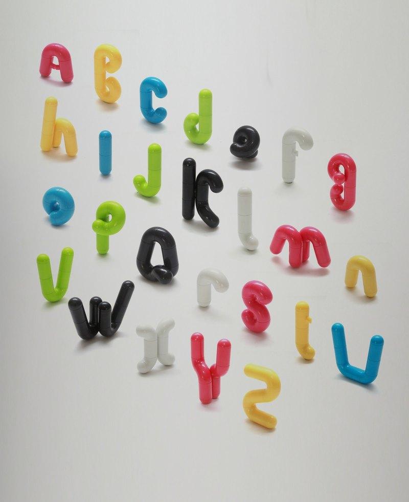 MOCA bricks - 字母鑰匙圈
