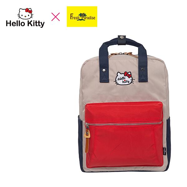 【橘子包包館】Hello Kitty x Freak Paradise 凱蒂學院-方型後背包-紅藍 FPKT0F001RNG