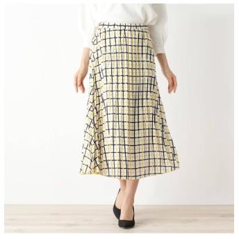 【オペークドットクリップ/OPAQUE.CLIP】 【洗える】チェック柄プリーツスカート