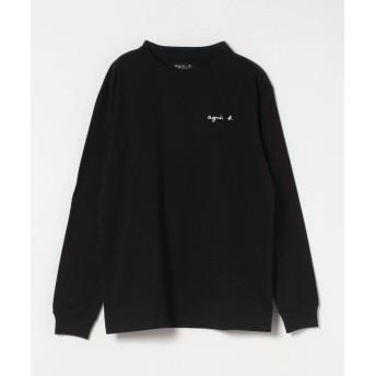 アニエスベー S179 TS ロゴTシャツ ユニセックス ブラック L 【agnes b.】