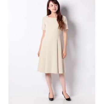 MISS J/ミス ジェイ シルキーストレッチ ドレス ベージュ 38