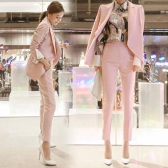 レディース ジャケット パンツスーツ フォーマル セレモニー 女性 上下 スーツ オフィス ビジネス 20代 30代 OL 通勤 セット ママスーツ