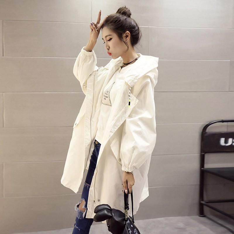 ﹉☒春季新款韓版中長款寬鬆學生風衣女秋季外套女歐洲站bf潮款