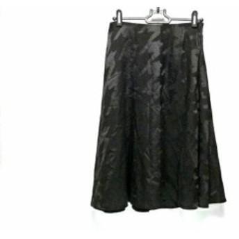 ジユウク 自由区/jiyuku スカート サイズ38 M レディース 黒 千鳥格子【中古】