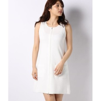MISS J/ミス ジェイ ハノン ジップアップニットドレス ホワイト 40