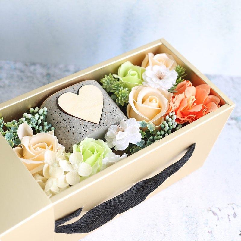瓔珞莊園*C27*香皂花盒/永生花/乾燥花/情人節/交換禮物/送禮小物