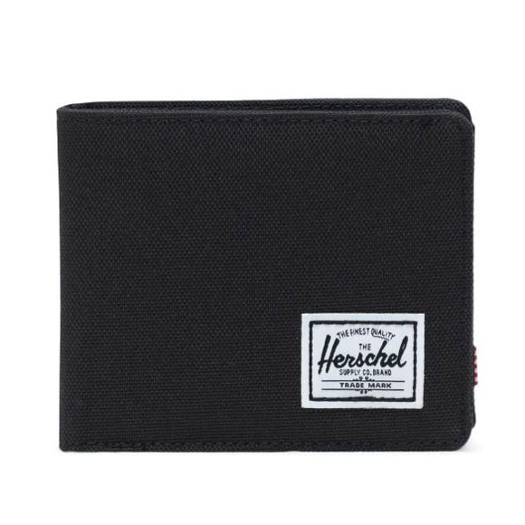 HERSCHEL 10766-00001 ROY RFID WALLET 帆布零錢袋 短夾 (BLACK黑色) 化學原宿