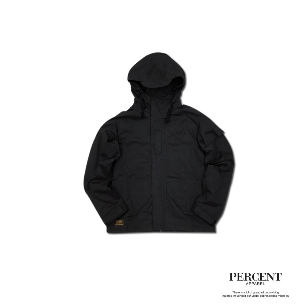 PERCENT% 登山外套 黑色 S-2XL 藤原本舖 機能外套 軍裝外套 連帽外套