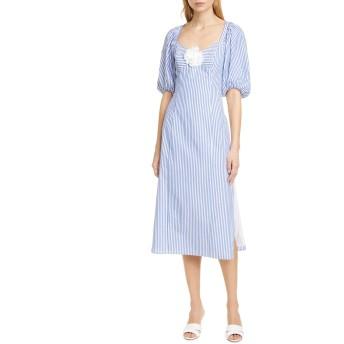 [ステゥド] レディース ワンピース STAUD O'Keefe Cotton Midi Dress [並行輸入品]