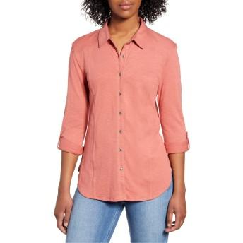 [カスロン] レディース シャツ Caslon Roll Sleeve Knit Shirt [並行輸入品]