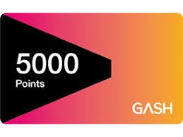 【童年往事】 GASH (實體序號)  5000點 遊戲橘子