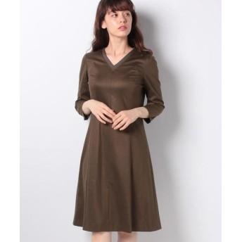 LAPINE BLANCHE/ラピーヌ ブランシュ Sarti ジャージー ドレス ブラウン 40