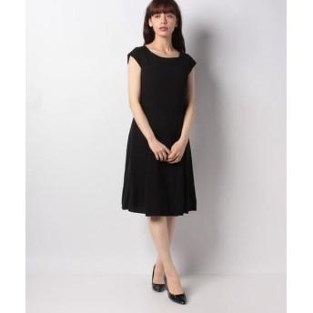 MISS J/ミス ジェイ ドビークロス フレンチスリーブ ドレス ブラック 40
