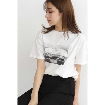 エヌナチュラルビューティベーシック プリントTシャツ レディース ホワイト M 【N.Natural Beauty Basic】