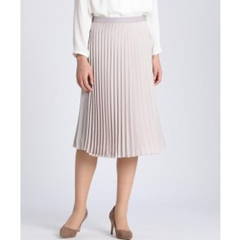INED L(イネド)(INEDL)/《大きいサイズ》 プリーツスカート