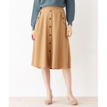 grove(グローブ) フェイクボタンフレアスカート