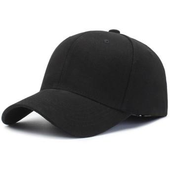 野球帽 男女兼用の通気性のトラック運転手のお父さん帽子調節可能なサイズの平野の空白の無地の黒の白 運動 スポーツ帽子 (Color : Black, Size : Free size)