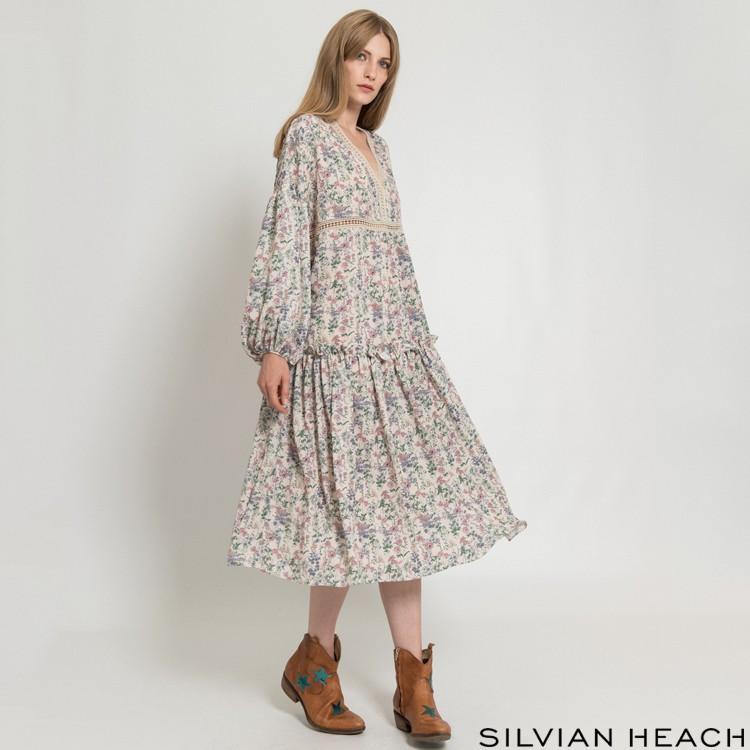 【SILVIAN HEACH】 鄉村花版大圓裙洋裝