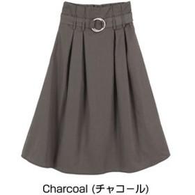 【titivate:スカート】ハイウエストベルト付キフレアスカート