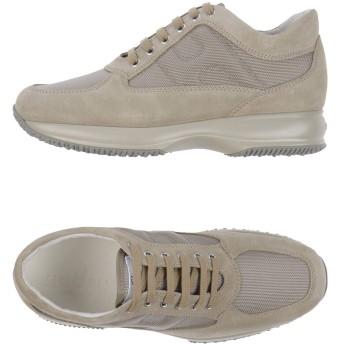 《セール開催中》HOGAN メンズ スニーカー&テニスシューズ(ローカット) サンド 10 革 / 紡績繊維