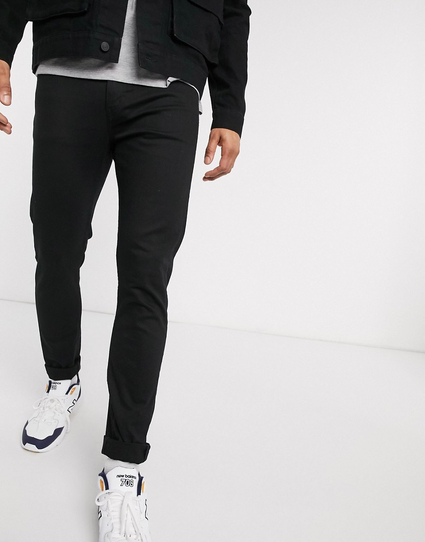 Weekday Form skinny jeans in stay black