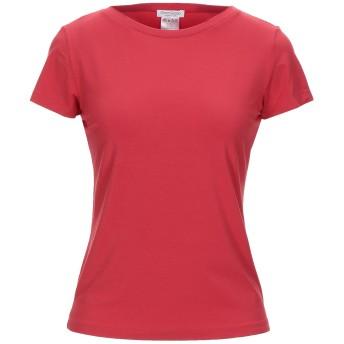 《セール開催中》GRAN SASSO レディース T シャツ レッド 46 コットン 70% / レーヨン 20% / ポリウレタン 10%