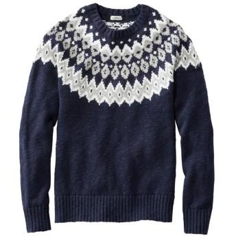 コットン・ラグ・セーター、マール フェアアイル/Cotton Ragg Sweater, Marled Fair Isle