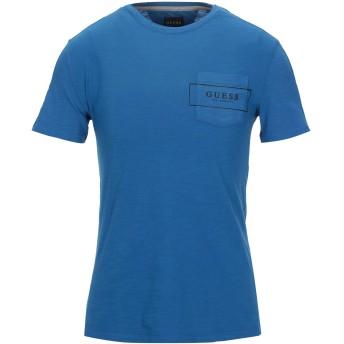 《セール開催中》GUESS メンズ T シャツ ブルー XS コットン 100%