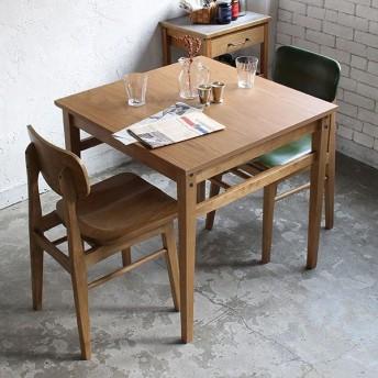 ダイニングテーブル 幅75cm Rasic テーブル 木製 天然木 ( 木製テーブル 食卓テーブル 机 つくえ )