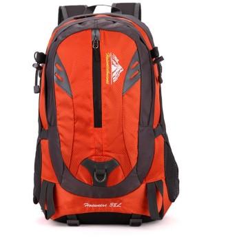 防水 超軽量 登山リュック 防水キャンプ旅行でキャンプキャンプ旅行中立多機能ラップトップバッグ肩適切な登山バックパックアウトドア用 男女兼用バッグ (Color : Orange)