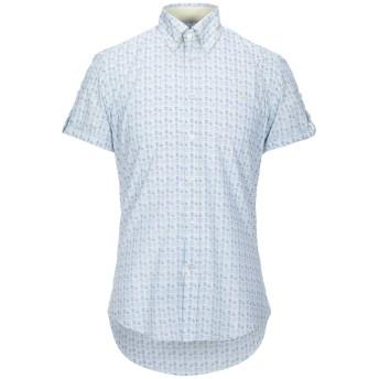 《セール開催中》HARMONT & BLAINE メンズ シャツ スカイブルー S コットン 100%