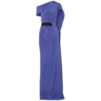 《セール開催中》ROLAND MOURET レディース ロングワンピース&ドレス ブルー 6 シルク 100%