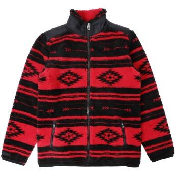 《セール開催中》RALPH LAUREN ガールズ 9-16 歳 ブルゾン レッド 12 ポリエステル 70% / アクリル 30% Geometric-Print Fleece Jacket
