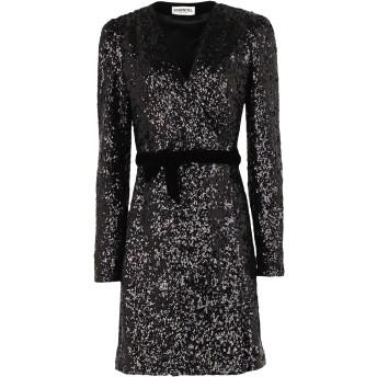 《セール開催中》ESSENTIEL ANTWERP レディース ミニワンピース&ドレス ブラック 34 ポリエステル 96% / ポリウレタン 4% VORMATION SEQUINED MINIDRESS