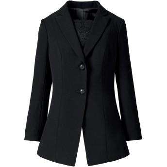 [セシール] ブラックフォーマル プランプ 大きいサイズ ジャケット 胸当て付き AI-350 レディース ブラック 日本 17ABR (日本サイズ2L相当)