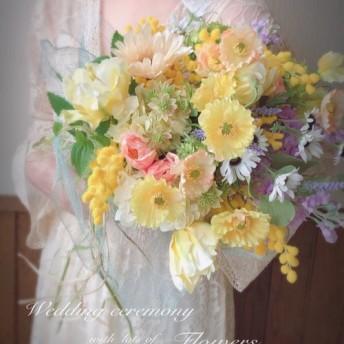 ウエディングブーケ ミモザの花をあしらって セミオーダー