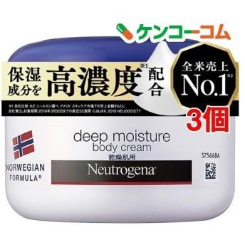 ニュートロジーナ ディープモイスチャー ボディクリーム 乾燥肌用 微香性 ( 200ml3個セット )/ Neutrogena(ニュートロジーナ)