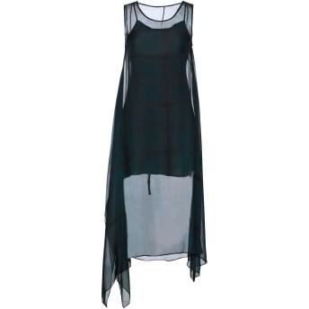 《セール開催中》MASNADA レディース 7分丈ワンピース・ドレス ダークグリーン 40 シルク 100%